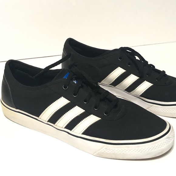 63ee53795 Adidas Other - Adidas Canvas Black White Lace up Sneakers Sz 11